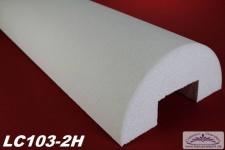 LC103-2H Halbsäule glatt mit 405mm Durchmesser 200cm Halbschalen Styroporsäule für Haus Garten Eingang Verkleidung