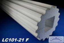 LC101-21F Säule kanneliert 255mm Durchmesser 200cm Styroporsäule Full für Haus Garten Eingang Verkleidung