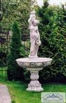 SR810 Großer Gartenbrunnen mit Wasserträgerin Springbrunnen Figur Frau mit Krug 230cm 373kg