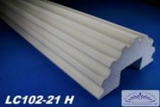 LC102-21H Halbsäule kanneliert mit 305mm Durchmesser 200cm Styroporsäulen Halbschale für Hausvordach Eingang Verkleidung