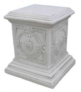 ROP-661 Sockel quadratisch mit Ornament für Gartenfigur oder Podest für Pflanzamphore 48cm 44kg
