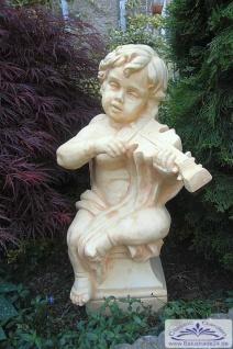BD-7212 Engelfigur mit Geige oder Violine in der Hand Gartendeko Engel Steinfigur 74cm 67kg