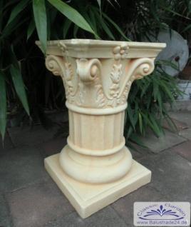 BD-7662 Sockel Säule mit korinthischem Kapitell Gartendekosäule aus Beton oder Gips 54cm 63kg