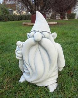 BD-10244 Zauberer Figur als Gartenzwerg mit Zipfelmütze als Steinfigur 28cm 8kg