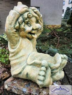 SA-N1519 lustiger Gartenzwerg Wichtel Zwerg Gnom Kobold 32cm 12kg
