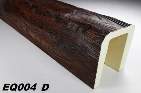 HX-EQ004D Deckenbalken aus leichtem Polyurethan Hartschaum als rustikale Innendekoration 190x170mm Preis je Stück
