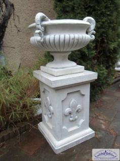 BD-7198 Parkvase Blumenschale Henkelvase mit Sockel französischer Lilie oder Medusa Kopf 98cm