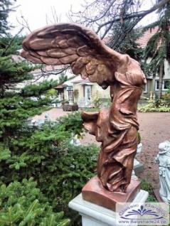 BAD-0130 Gartenfigur Siegesgöttin Nike von Samothrake 100cm bronze Skulptur Beton Steinguss Steinfigur 100cm