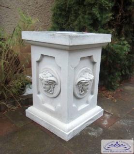 BD-6530 Sockel mit Kopf der Medusa 60cm für Gartenfigur Vasen Basissockel für Säule und Gartendekoration