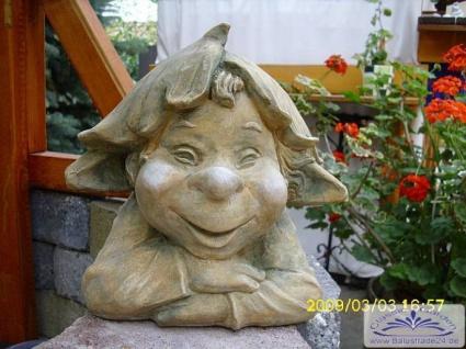 SA-N1516 Gartenfigur Wichtelfigur fauler Zwerg liegend 41cm 13kg