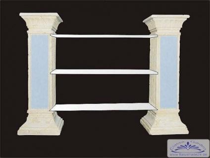 SK-1846 Säulenregal mit Glasböden als Dekoregal