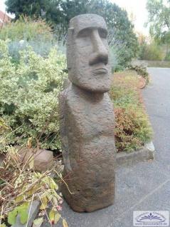 BD-10143 Moai Skulptur XXXL sehr große Osterinsel Figur Rapa Nui Steinfigur ockerbraun 160cm 308kg