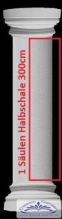 Styropor Säulen 300cm lange Halbschale SA15G runde glatte Oberfläche Verkleidung