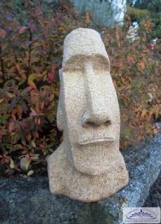 Kleine Moai Skulptur Osterinsel Figur Rapa Nui Steinfigur als moderne Gartenfigur 40cm 11kg Beton Steinguss