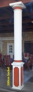 BD-A031 Säule kanneliert 30cm Betonsäule mit 100cm Postament Sockel und dorischem Kapitell 340cm