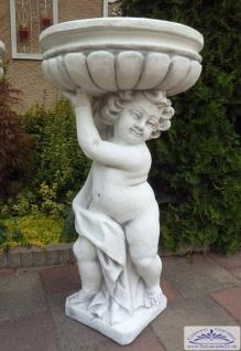 SR580 Putte mit Pflanzschale rechts 90cm 88kg Skulptur Gartenfigur