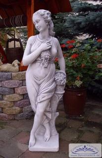 S271 Gartenfigur Weingöttin Frau mit Wein Gartendekoration Steinfigur 140cm 126kg