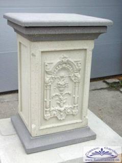 RM-Collection Pfeiler mit Dekorplatte als Sockel und dekorativer Zaunpfeiler 106cm 230kg Torpfeiler