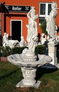 KP-7130 Gartenbrunnen mit Figur Wasserträgerin als Garten Springbrunnen 215cm 449kg