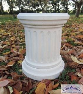 KP-0449 runder Säulensockel in Form einer Säule mit Rillen als Sockel 43cm
