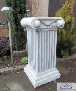 SA-N324 Säule im griechisch ionischem Stil mit Kapitell als Sockel oder als Dekosäule im Garten 71cm 95kg
