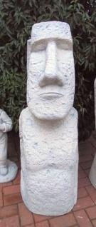 BAD-10142 Moai Skulptur XXL große Osterinsel Figur Rapa Nui Steinfigur skurrile Gartendekoration130cm 240kg Beton Steinguss