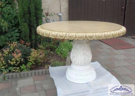 KP-0500 Gartentisch rund Tischplatte 107cm Durchmesser 71cm Gesamthöhe mit Sockel