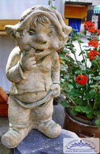 SA-N1521 Stehender Gartenzwerg Figur Wichtel Zwerg Kobold nachdenklicher Gartenzwerg 40cm 10kg