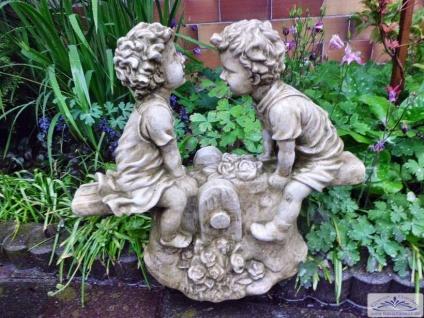 SA-N519 Kinder auf Wippe Schaukel Kinderfigur Gartendekoration Figur aus Beton Steinguss 38cm 15kg
