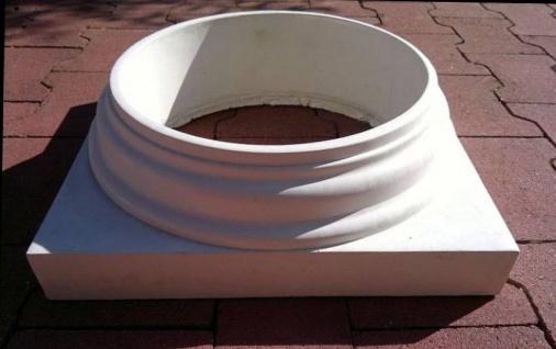 BD-A0010 Basis Sockel Kapitell 40x40cm für Säule Betonsäule 30cm Durchmesser