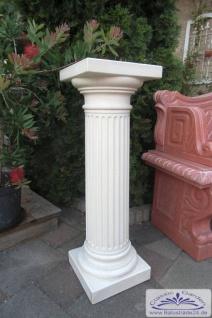 BAD-KP0463 Säule kanneliert Dekosäule für Garten und Innenbereich aus Weissbeton Steinguss Ziersäule 83cm 60kg