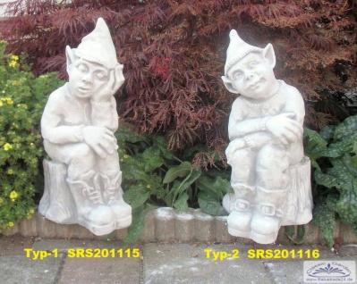 SRS201115 Schlafende Gartenzwerge mit Zipfelmütze als Gartendeko Steinfiguren 50cm je Stück 29kg