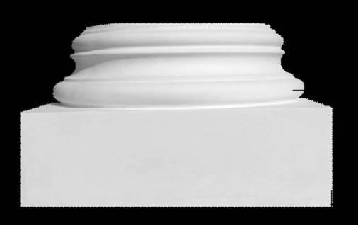 Sockel BK2a für Säule 200mm Durchmesser Gips Stuck Säulen aus Stuckgips Halbelement Halbschale