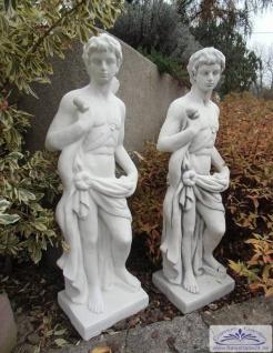 BAD-7182 Gartenfigur kleiner Jäger Hubertus mit Pfeil und Bogen griechische Figur Apollon 85cm 36kg
