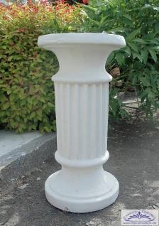 SR604 SR122 runde Säule mit Rillen als Sockel für Gartenfigur Vase Blumenschale Betonsäule