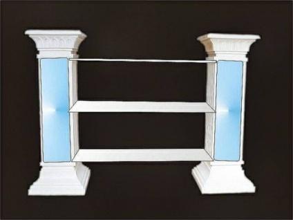 SK-1838 dekoratives Regal Säulenregal