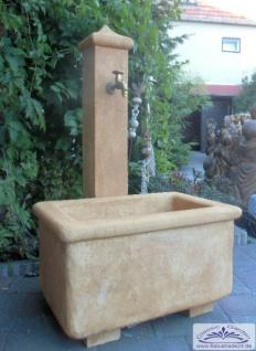 KP-0605 Wasser Schöpfbrunnen als Wasserzapfstelle im Hof und Garten im Design eines Sandsteinbrunnen 120cm 123kg