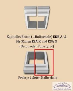 Kapitell Basis EKBA55cm U-Halbschale auf Styropor Basis für quadratische Säule zur Verkleidung 1Stück