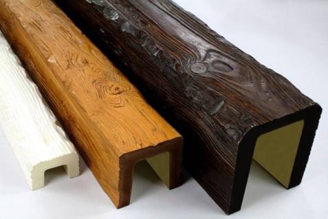 Musterstücke Deco Wood für Deckenbalken aus Polyurethan Hartschaum 15cm Preis je Muster Stück
