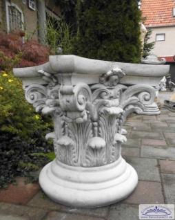 BD-7667 Kapitell für Säule oder auch Gartensockel 50cm 110kg Sockel für Gartenfigur oder Pflanzgefäß