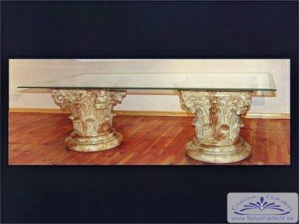 SK-6022 Dekorativer Tisch mir 2 Säulen Kapitell korinthischer Stil als Fuss
