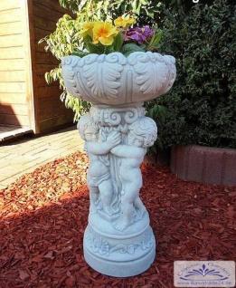 KP-0108 Kleine Putten Pflanzschale als Pflanzgefäß im Stil einer Steinvase 61cm 33kg