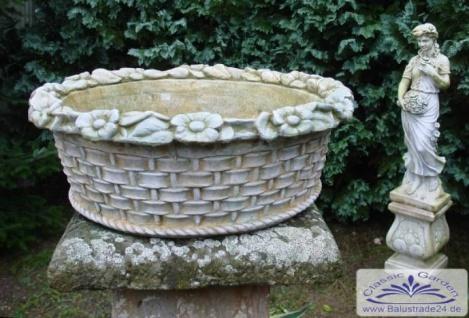 SA-N145 Grosser Pflanzkorb Pflanzschale runder Blumenkorb Blumenschale Balkonkübel 62x23cm 34kg