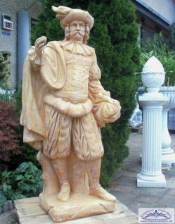 S101024 Gartenfigur Edelmann Exclusiv Statue Figur Skulptur Burgherr 141cm 242kg