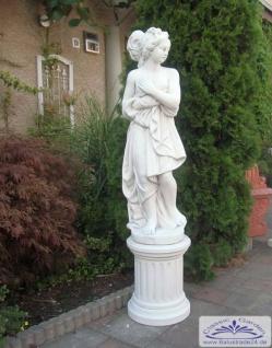 KP-0221 Gartenfigur Frau mit Badetuch Paula von Canova mit Sockel 152cm 149kg