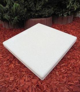 BAD-KP Betonplatten als Pfeiler Abdeckplatten für Zaunpfeiler Torpfeiler in verschiedenen Größen wahlweise mit Loch Bohrung