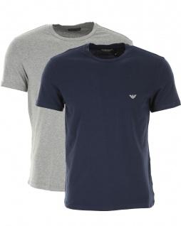 Emporio Armani 2er Set T-Shirt, Blau / Grau 111267 Größe M