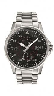 Hugo Boss Herren Uhr Aviator Edelstahl silber, 1513518
