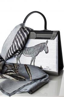Marquise Paris Handtasche Leder grau