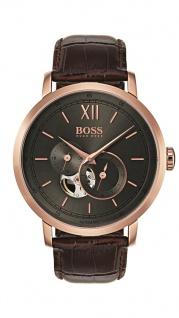 Hugo Boss Herren Uhr Signature Timepiece Leder braun, 1513506